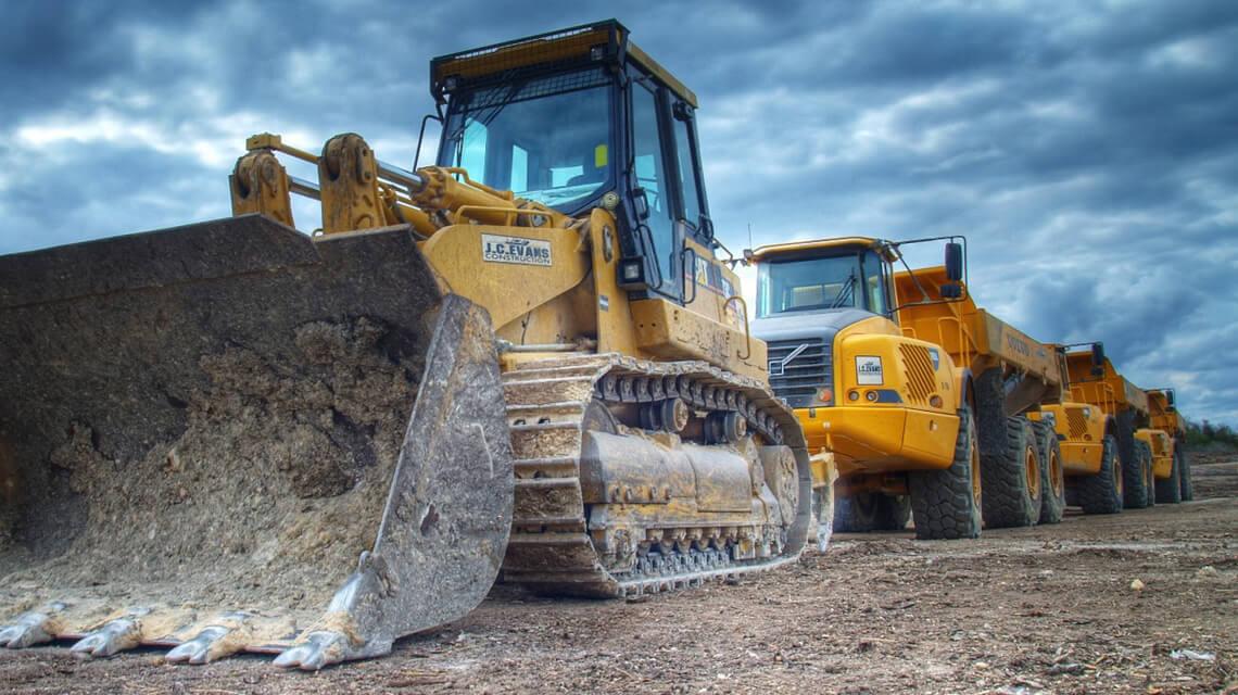 Обеспечение объектов строительной техникой (фото техники)