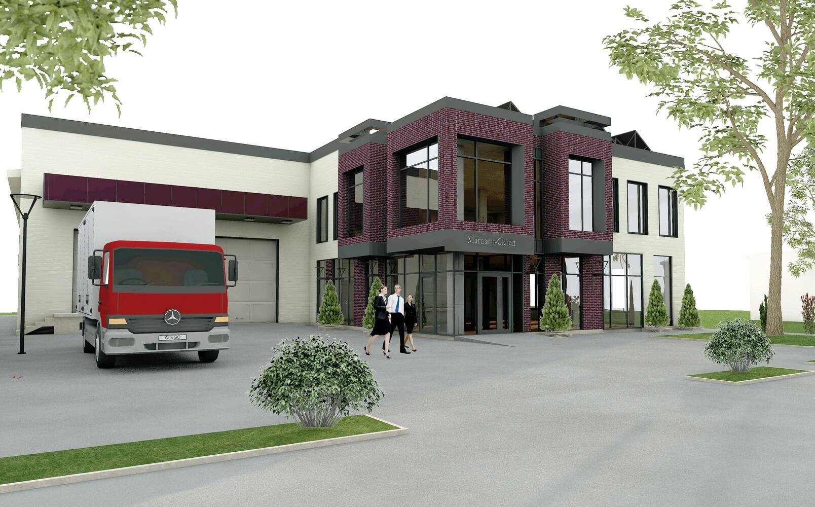 Проект магазина-склада (изображение 1)