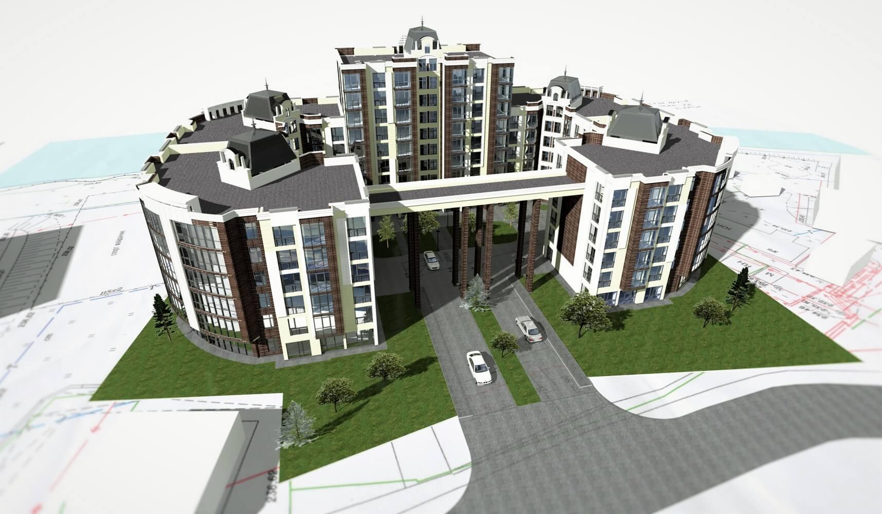 Проект многоэтажного здания (изображение 1)