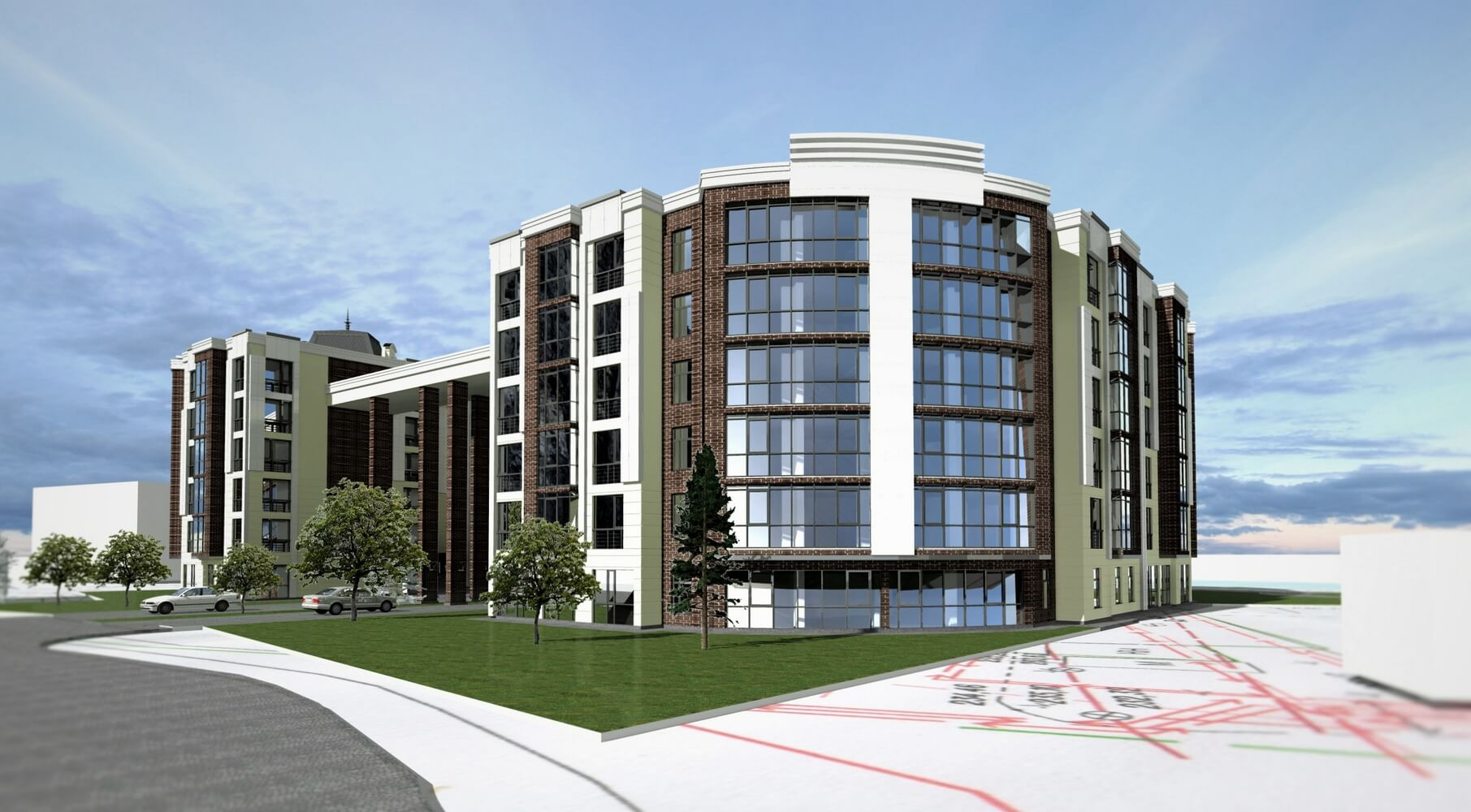 Проект многоэтажного здания (изображение 2)