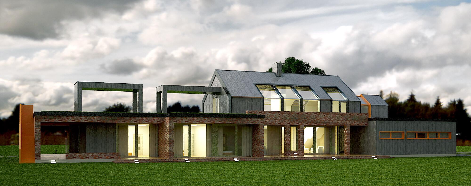 Современный загородный дом (изображение 1)