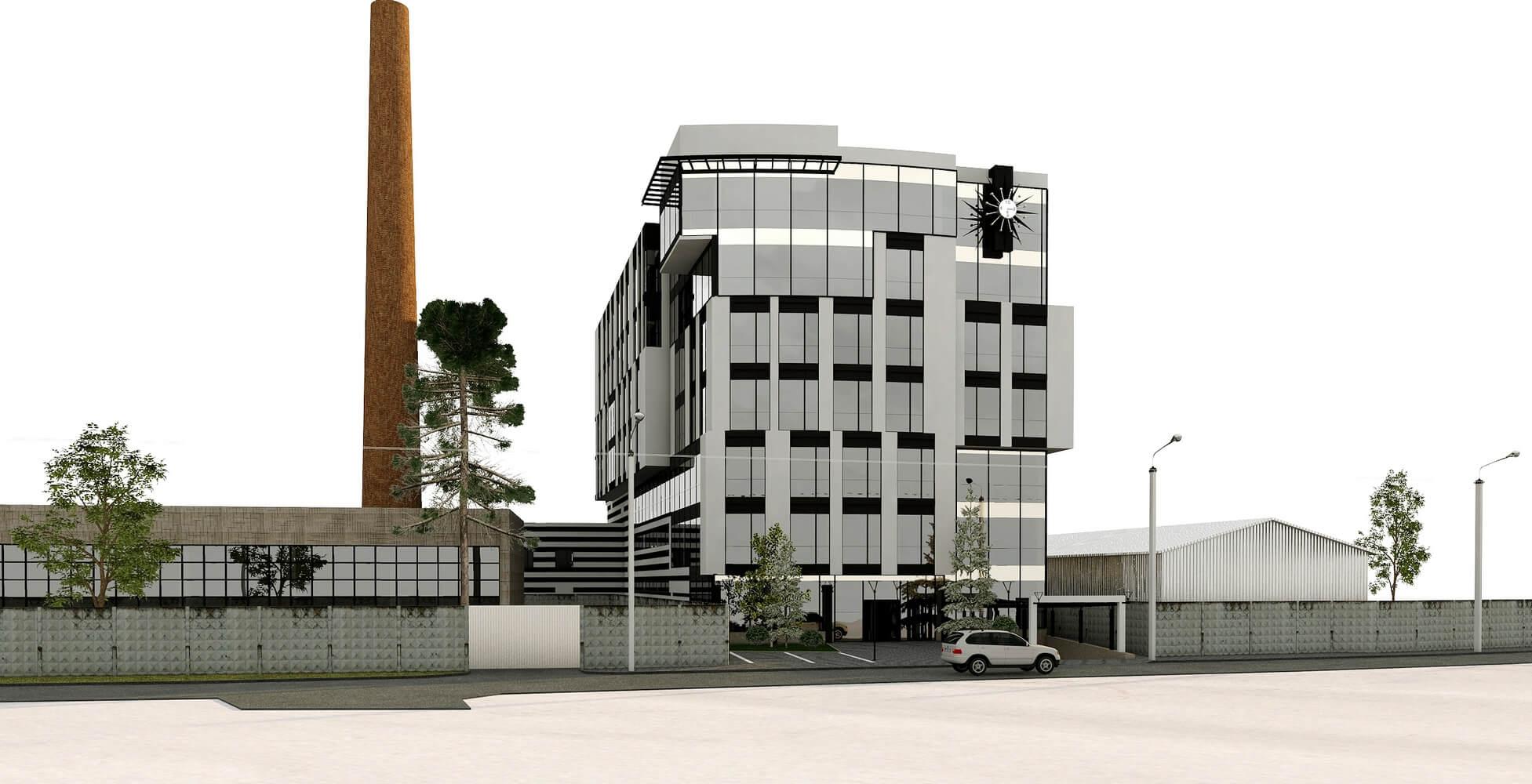 Проект офисного центра (изображение 1)