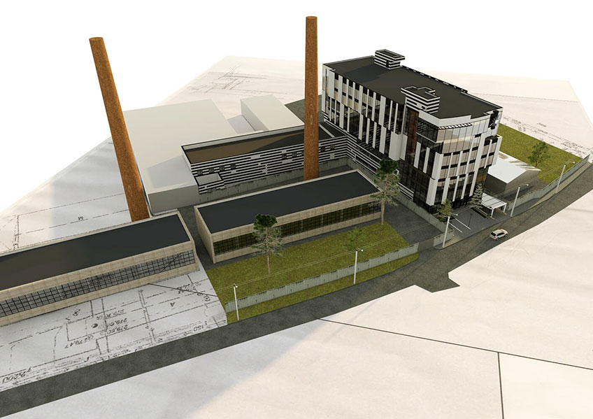 Компания по строительству. Проект здания