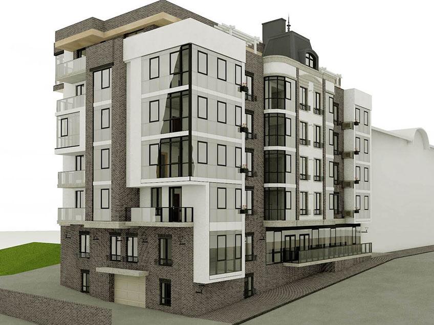 Строительство монолитных зданий. Фото проекта