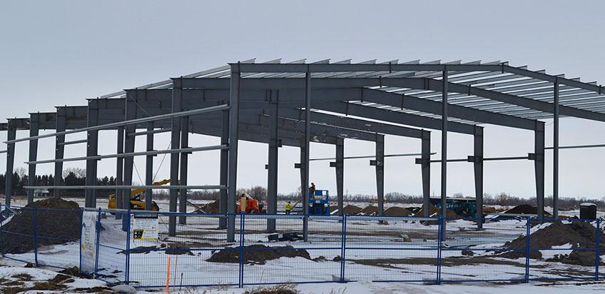 Строительство промышленных объектов (фото)