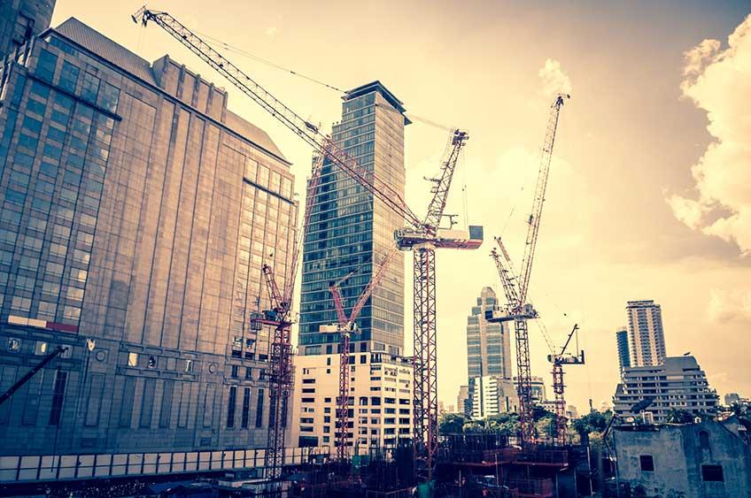 Строительство промышленных зданий (фото)