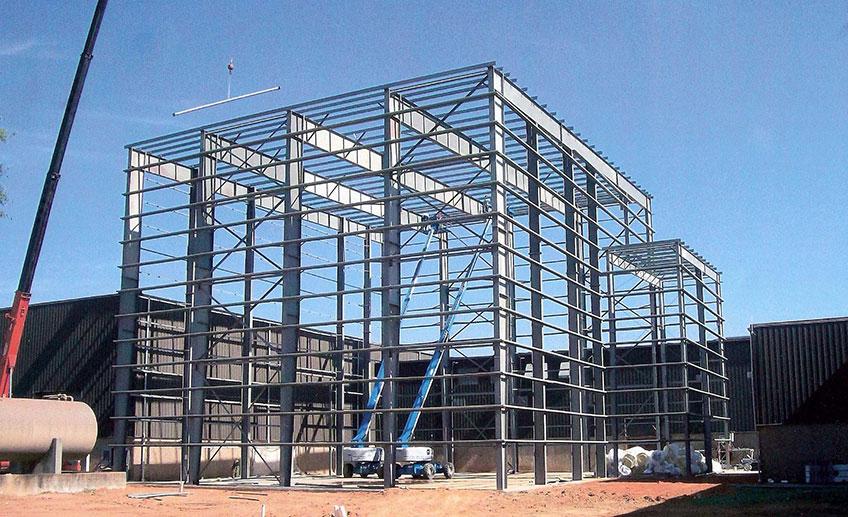 Строительство промышленных зданий в Украине. Фото строительства
