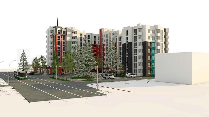 Строительство жилых зданий в Украине. Проект здания