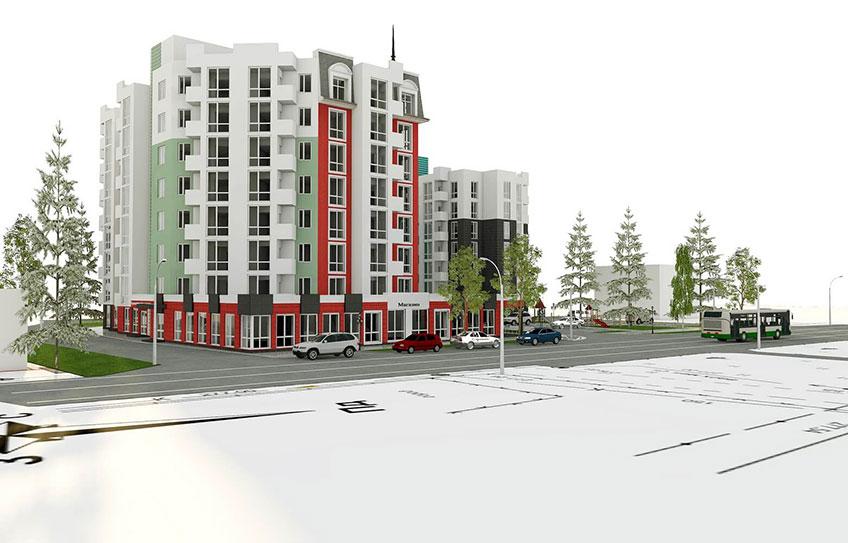 Строительство многоэтажных домов в Украине. Проект дома