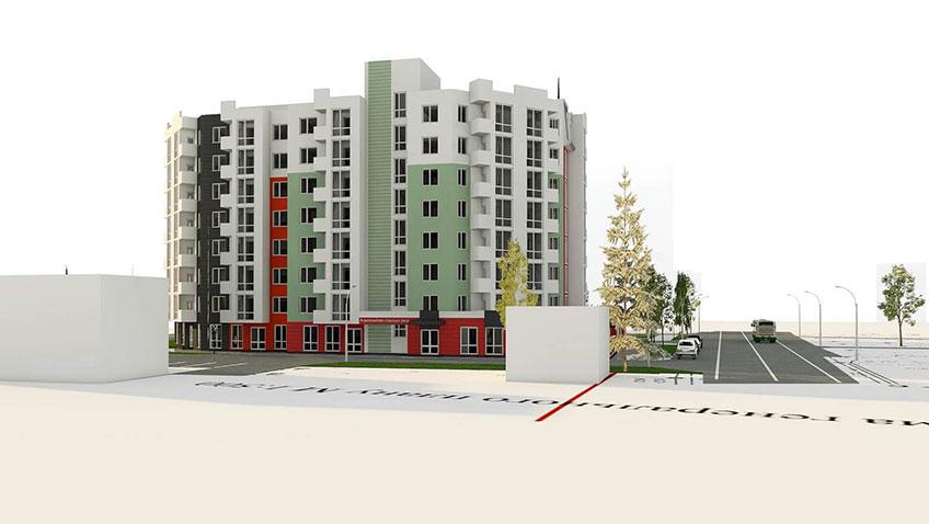 Строительство многоквартирных домов в Украине. Проект объекта