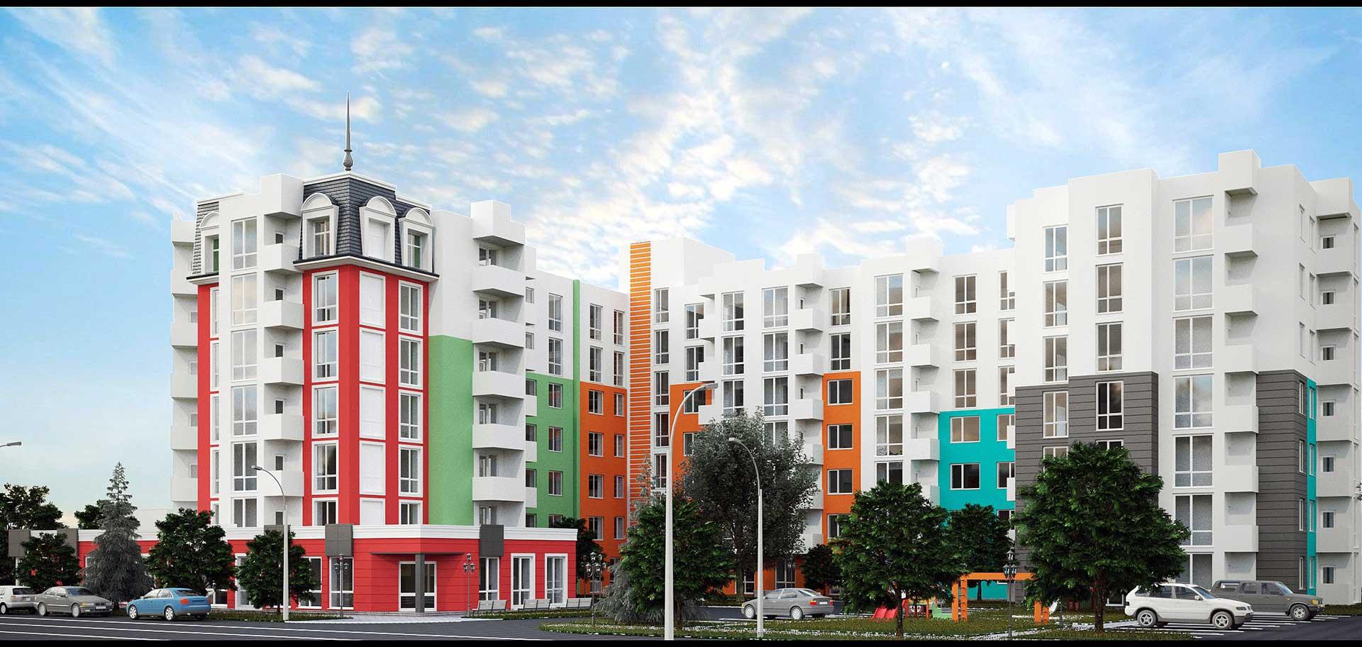 Строительство 7-ми этажного жилого дома со встроено-пристроенными помещениями (фото 1)