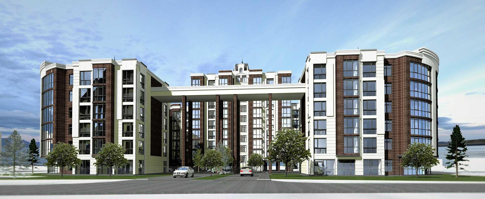 Проектное предложение жилого комплекса по ул. Свердлова в г. Виннице (фото 1)