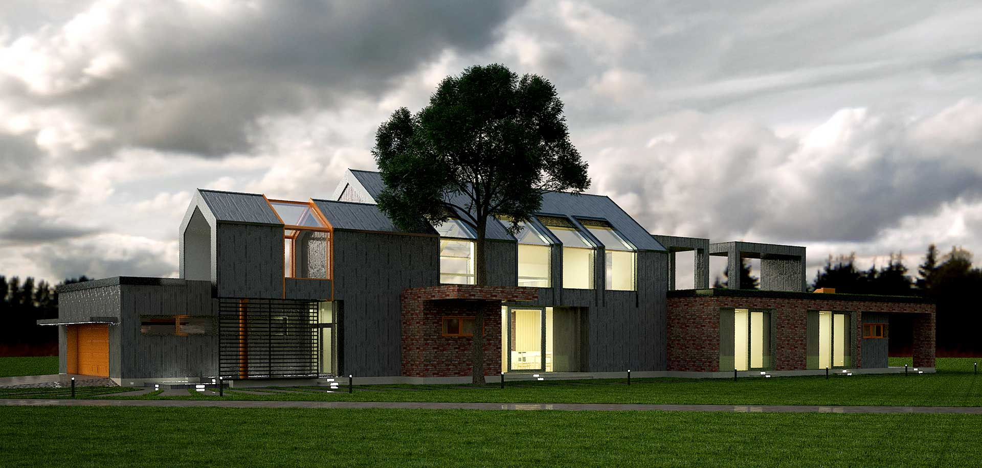 Проектное предложение индивидуального жилого дома (фото 1)