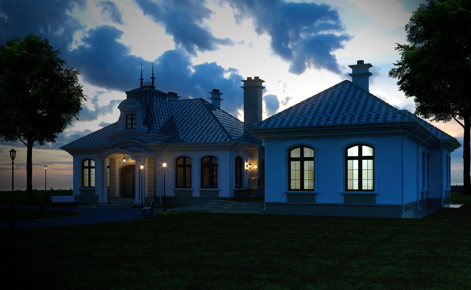 Эскиз жилого дома (фото 1)