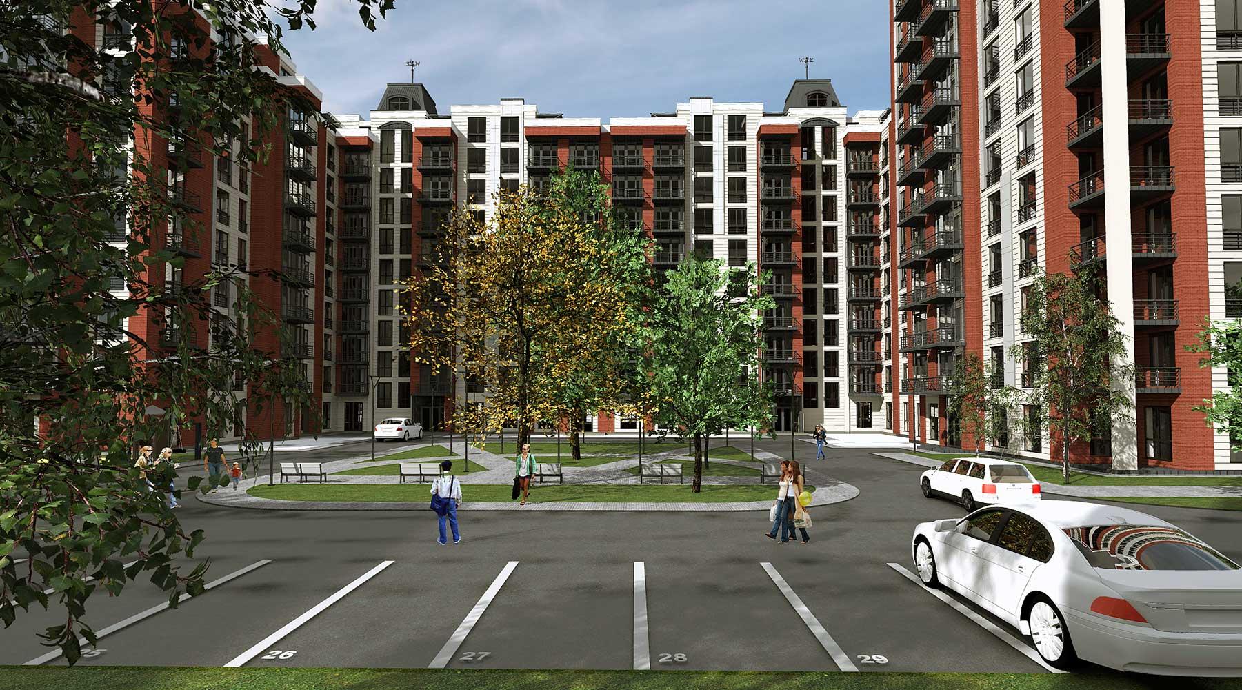 Проектное предложение жилого комплекса по ул. Порика в г. Виннице (фото 10)