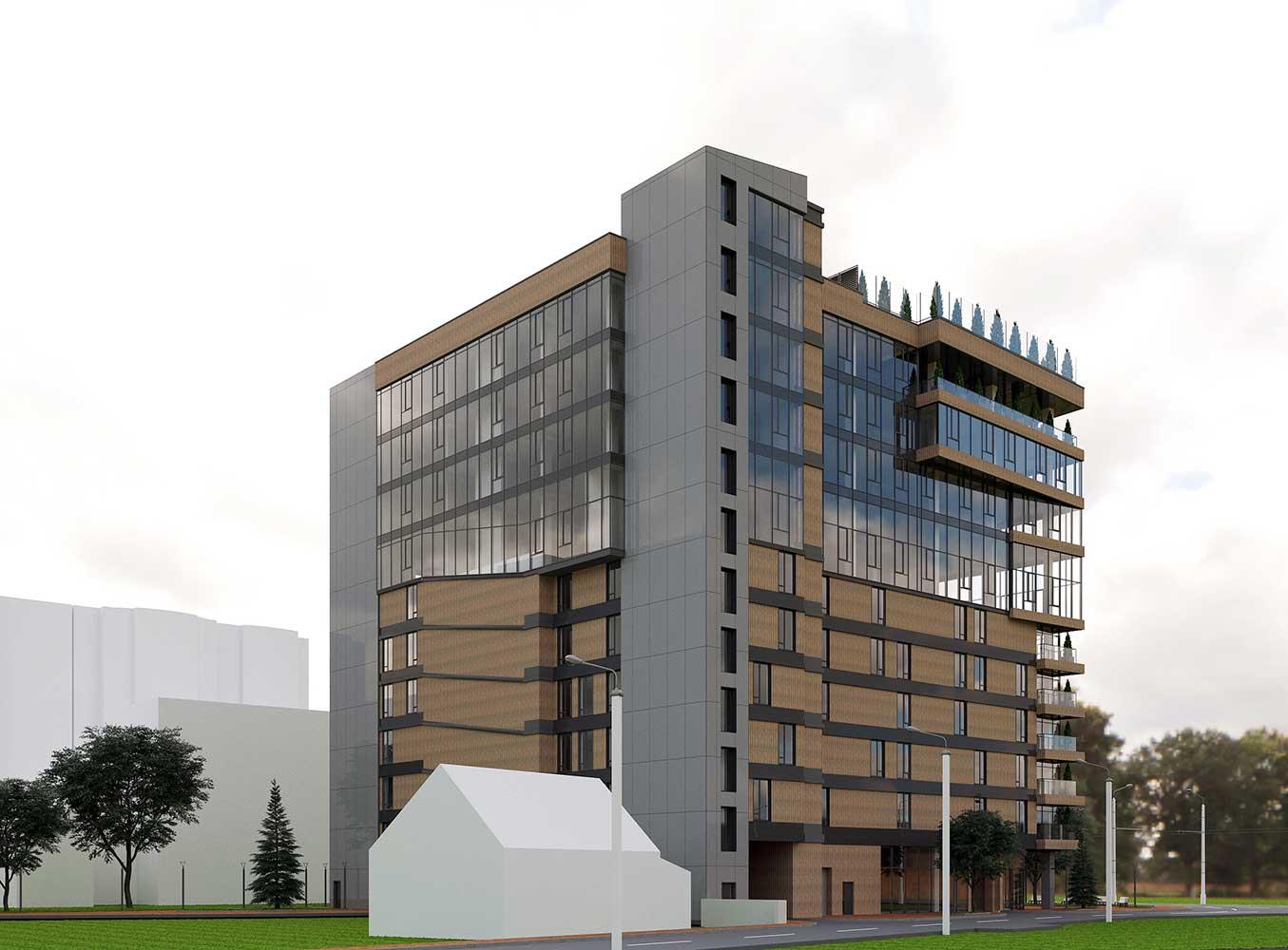 Многоэтажный торгово-бытовой комплекс с помещениями общественного назначения и паркинга (фото 9)