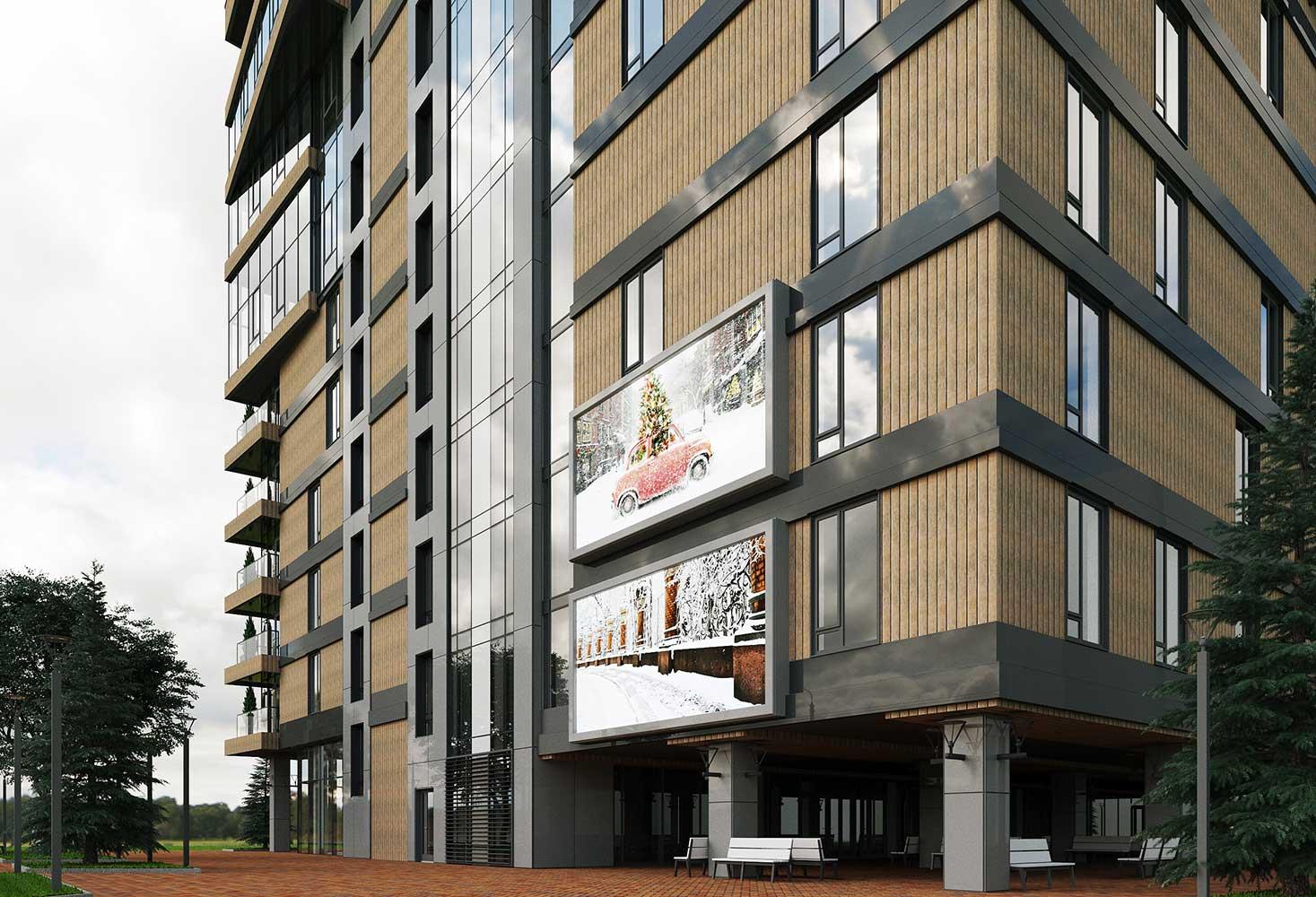 Многоэтажный торгово-бытовой комплекс с помещениями общественного назначения и паркинга (фото 10)