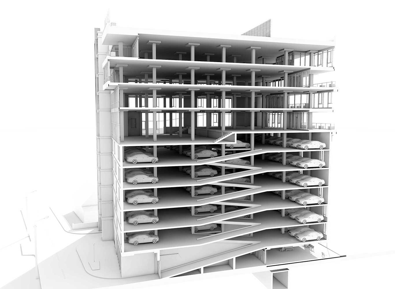 Многоэтажный торгово-бытовой комплекс с помещениями общественного назначения и паркинга (фото 11)