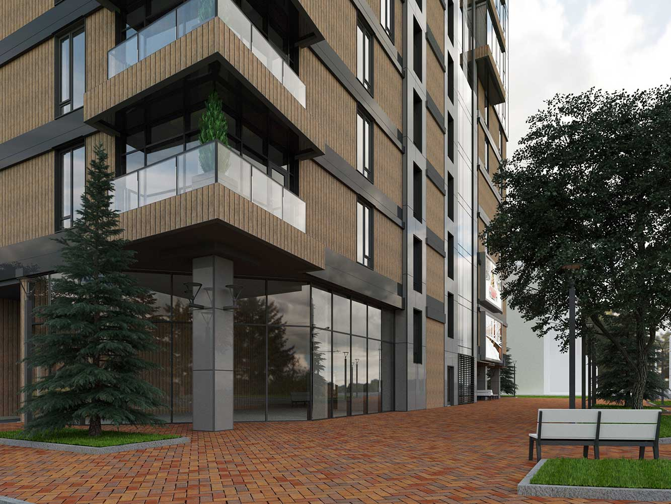 Многоэтажный торгово-бытовой комплекс с помещениями общественного назначения и паркинга (фото 12)