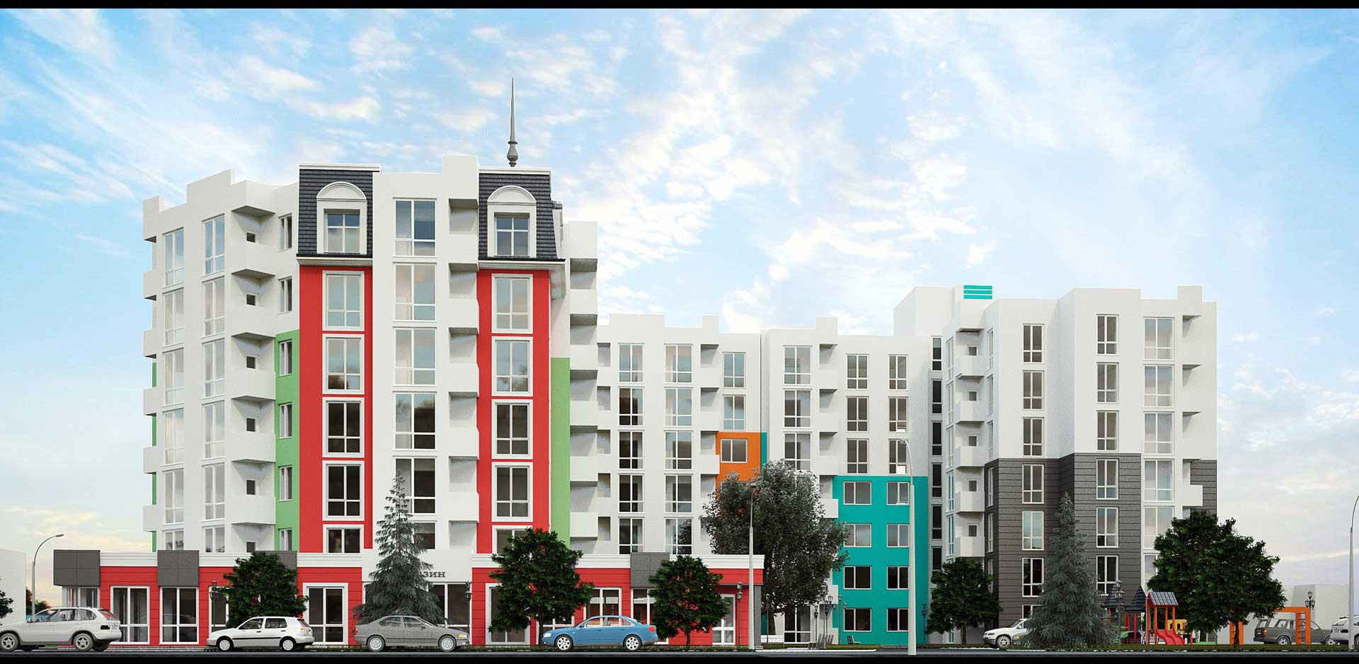 Строительство 7-ми этажного жилого дома со встроено-пристроенными помещениями (фото 2)