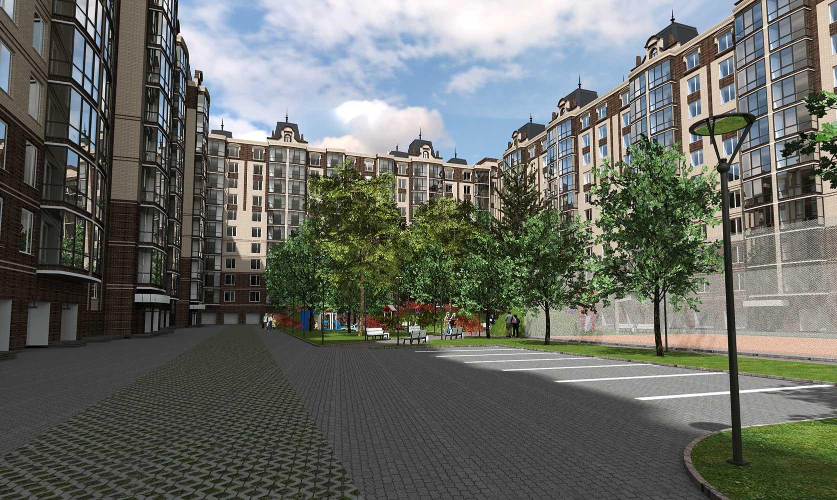 Проектное предложение жилого комплекса в микрорайоне Тяжилов (фото 2)