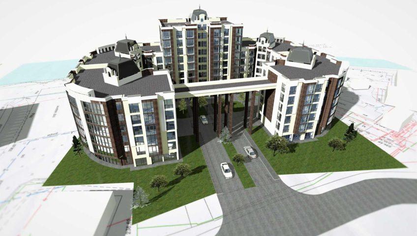 Проектное предложение жилого комплекса по ул. Свердлова в г. Виннице (фото 2)