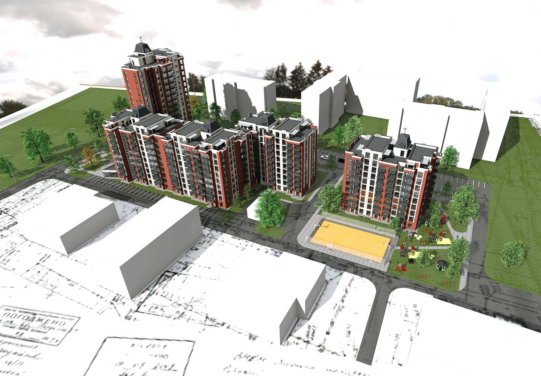 Проектное предложение жилого комплекса по ул. Порика в г. Виннице (фото 2)