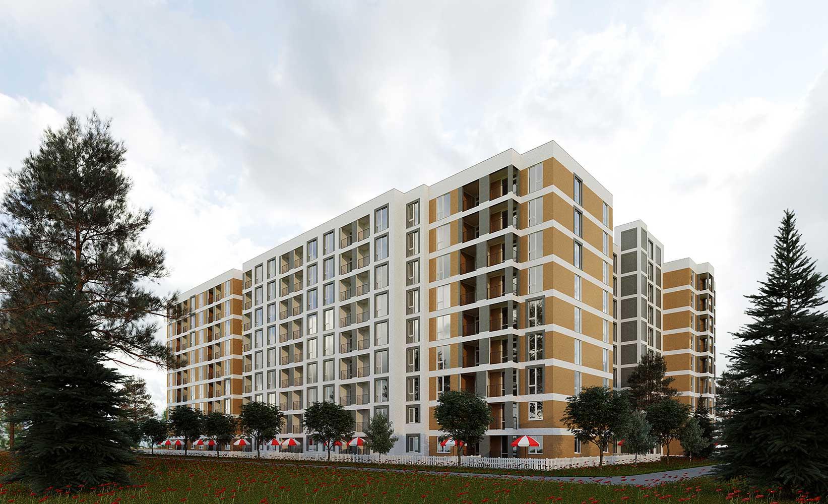 Многоквартирный трехсекционный жилой дом (фото 3)