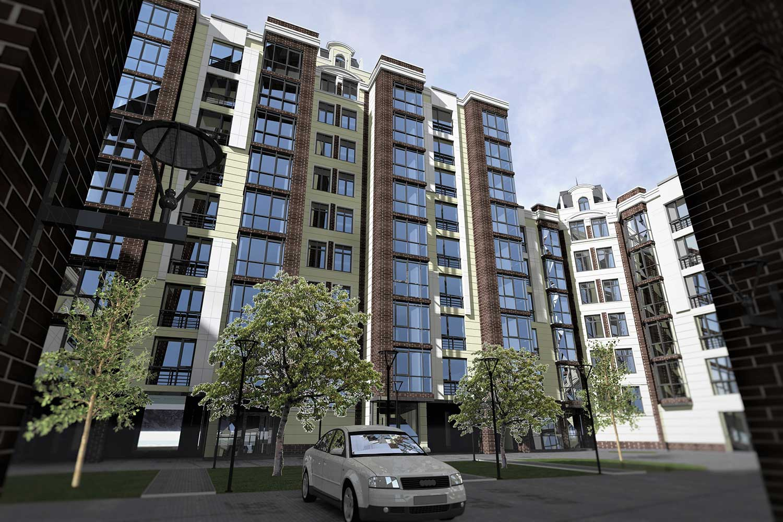Проектное предложение жилого комплекса по ул. Свердлова в г. Виннице (фото 3)