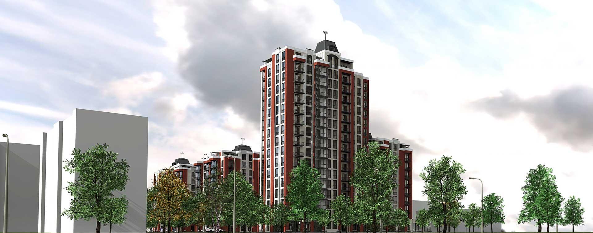 Проектное предложение жилого комплекса по ул. Порика в г. Виннице (фото 3)