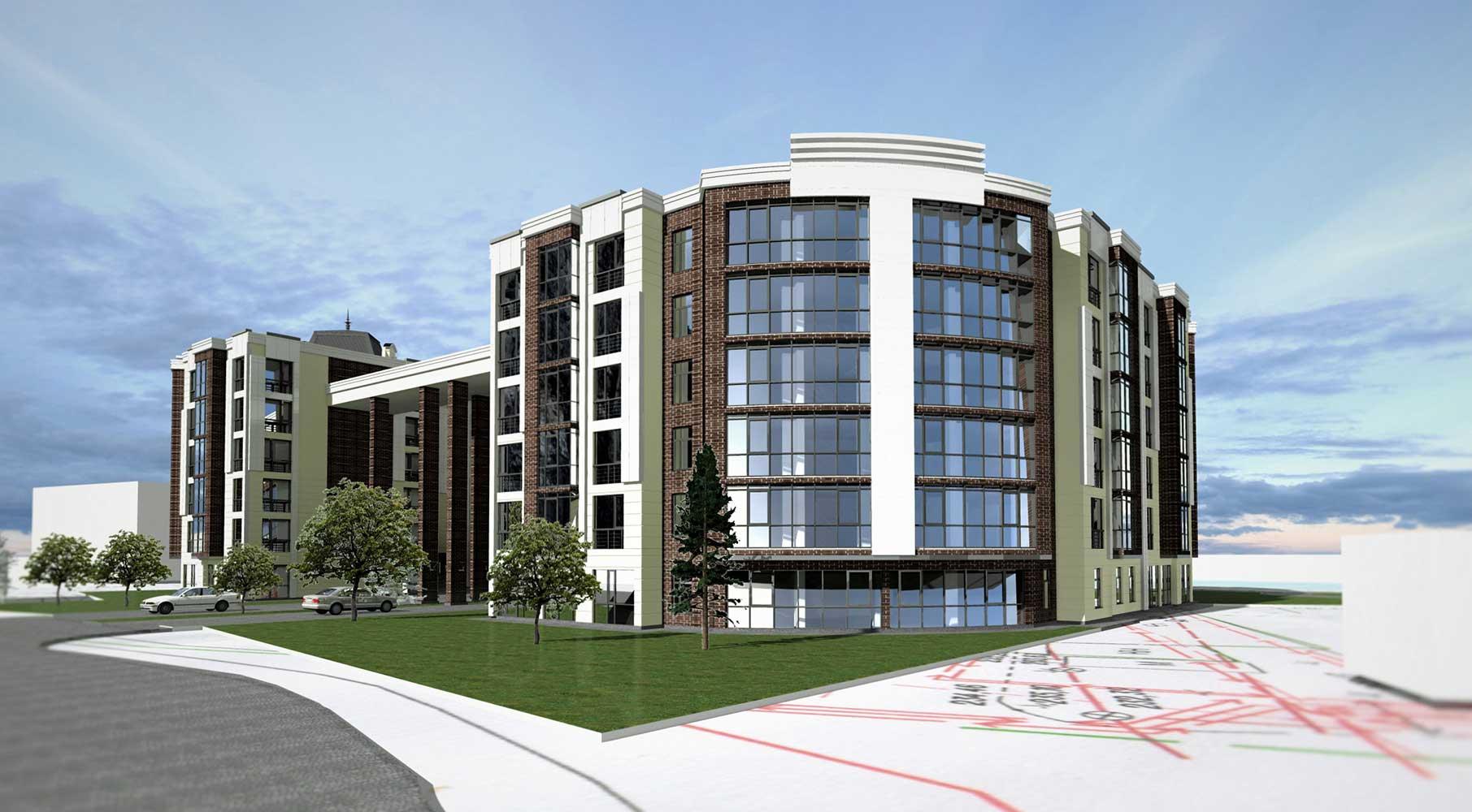 Проектное предложение жилого комплекса по ул. Свердлова в г. Виннице (фото 4)