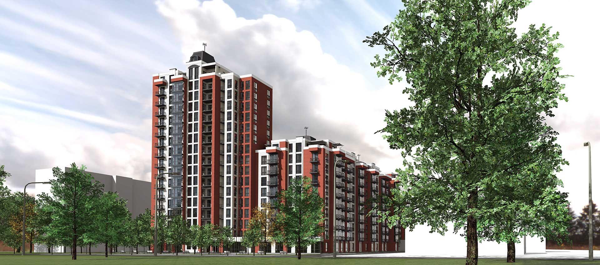 Проектное предложение жилого комплекса по ул. Порика в г. Виннице (фото 4)
