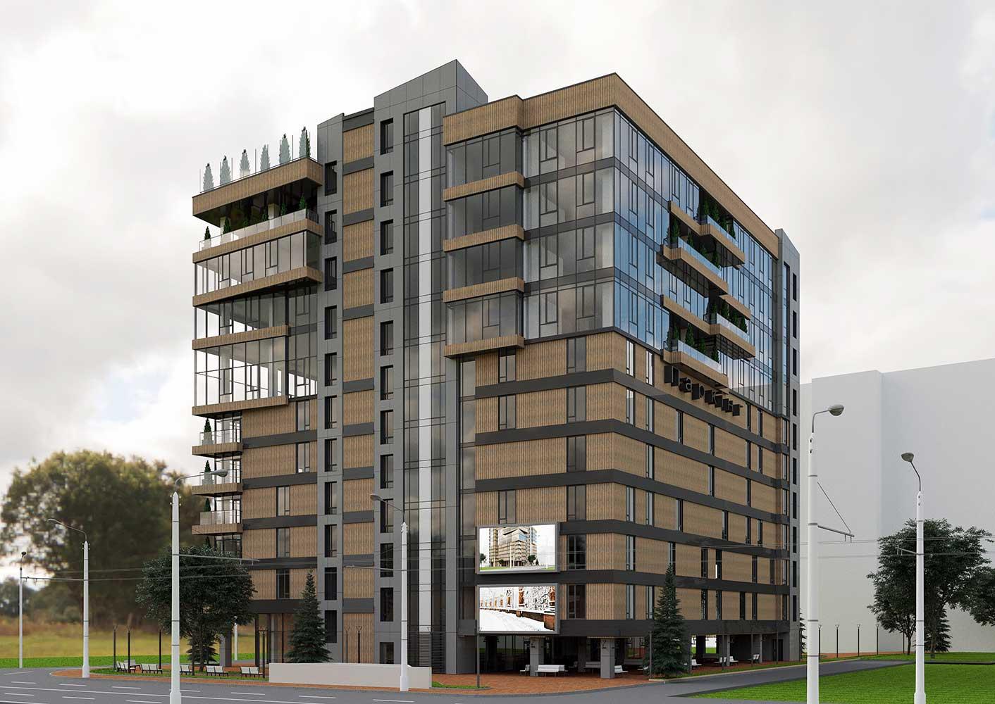 Многоэтажный торгово-бытовой комплекс с помещениями общественного назначения и паркинга (фото 4)
