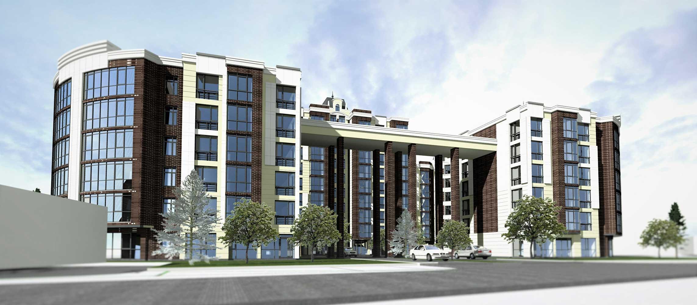 Проектное предложение жилого комплекса по ул. Свердлова в г. Виннице (фото 5)