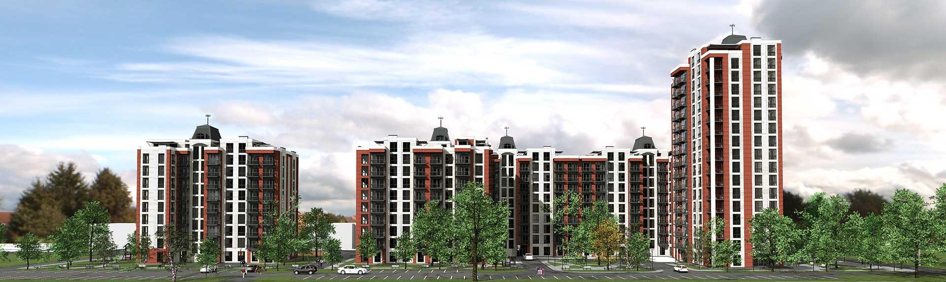 Проектное предложение жилого комплекса по ул. Порика в г. Виннице (фото 5)