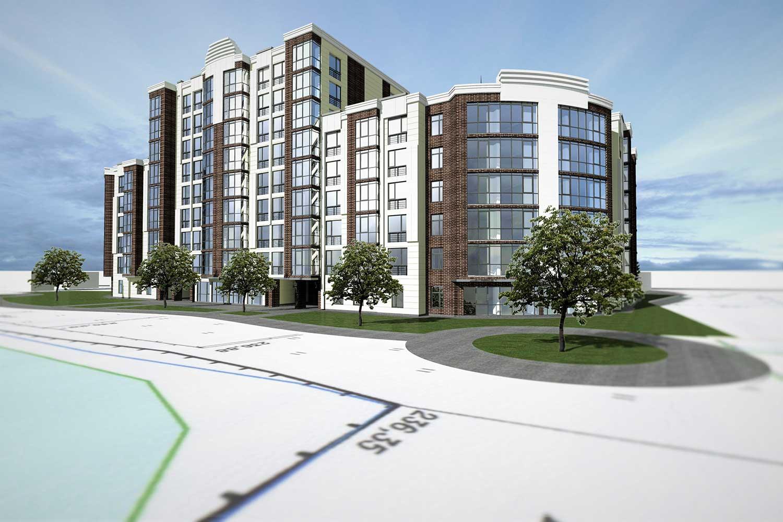 Проектное предложение жилого комплекса по ул. Свердлова в г. Виннице (фото 6)