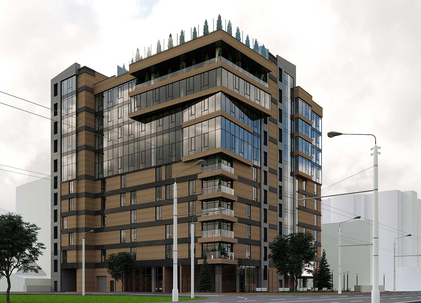 Многоэтажный торгово-бытовой комплекс с помещениями общественного назначения и паркинга (фото 6)