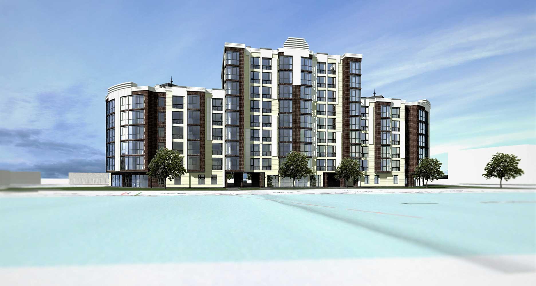 Проектное предложение жилого комплекса по ул. Свердлова в г. Виннице (фото 7)