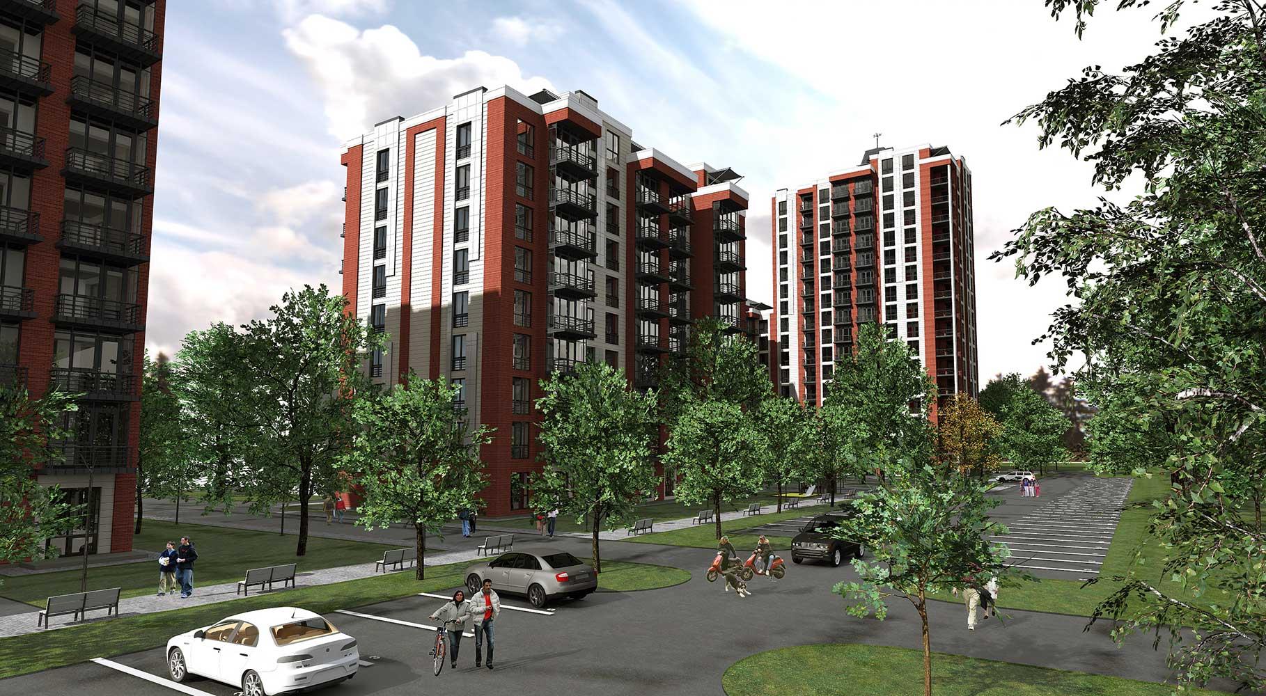 Проектное предложение жилого комплекса по ул. Порика в г. Виннице (фото 7)
