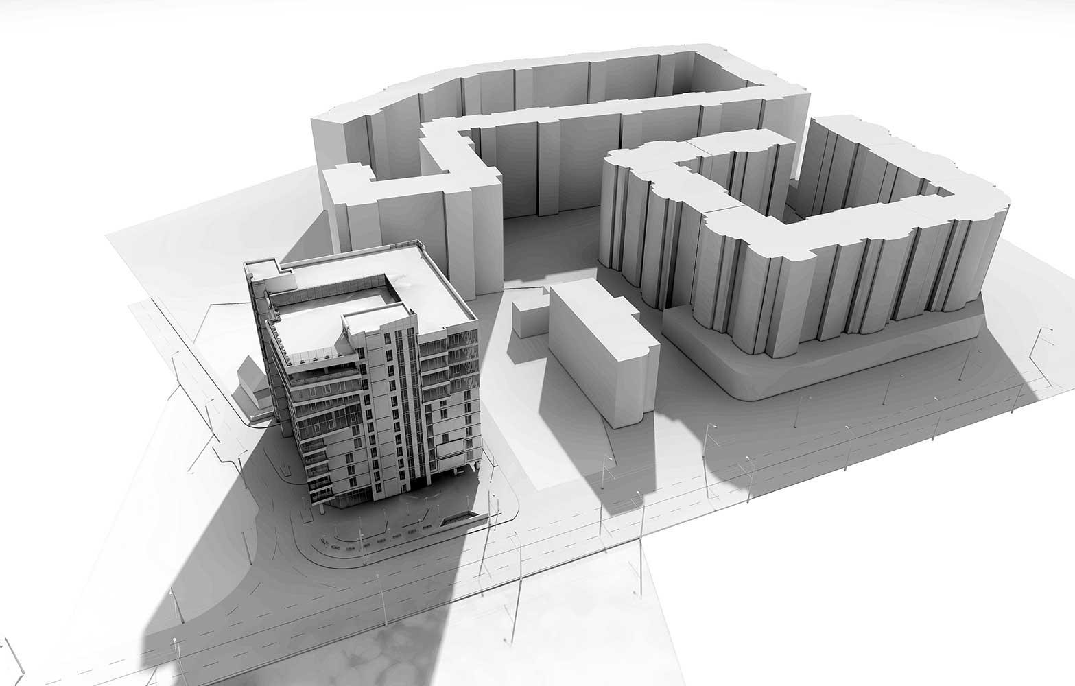 Многоэтажный торгово-бытовой комплекс с помещениями общественного назначения и паркинга (фото 13)