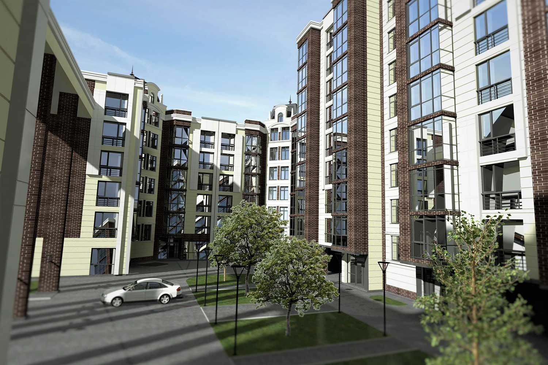 Проектное предложение жилого комплекса по ул. Свердлова в г. Виннице (фото 8)