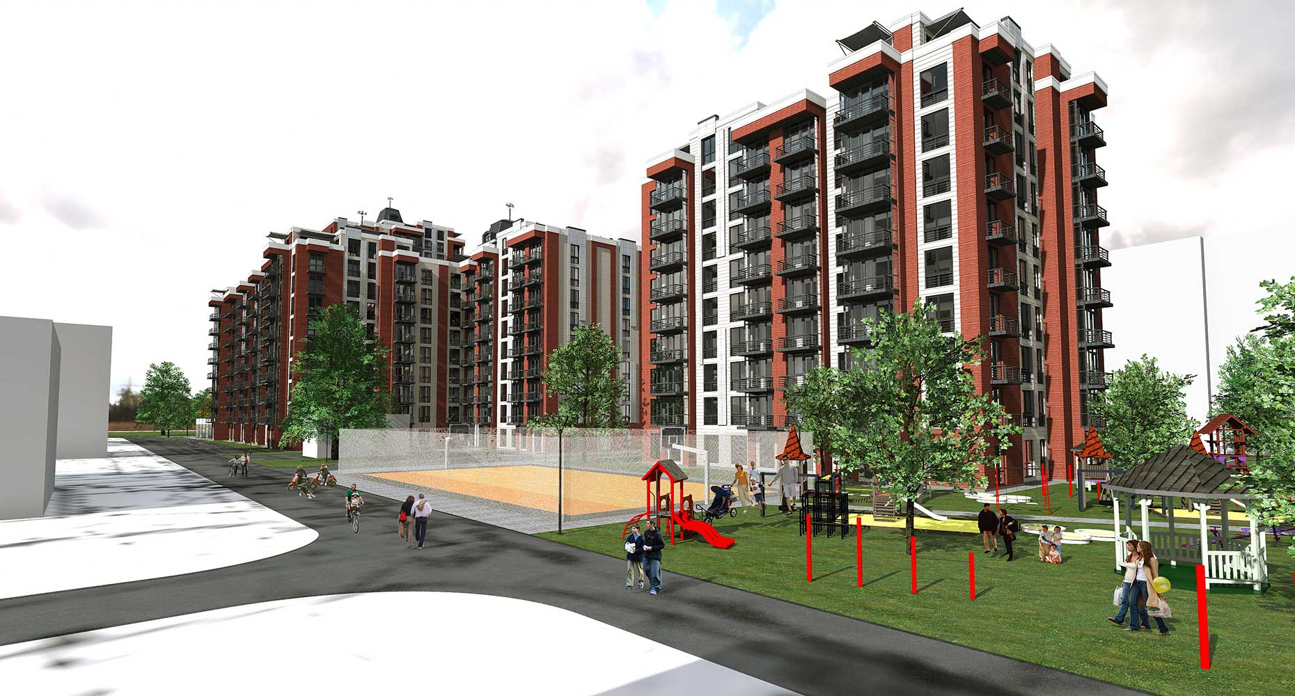 Проектное предложение жилого комплекса по ул. Порика в г. Виннице (фото 8)