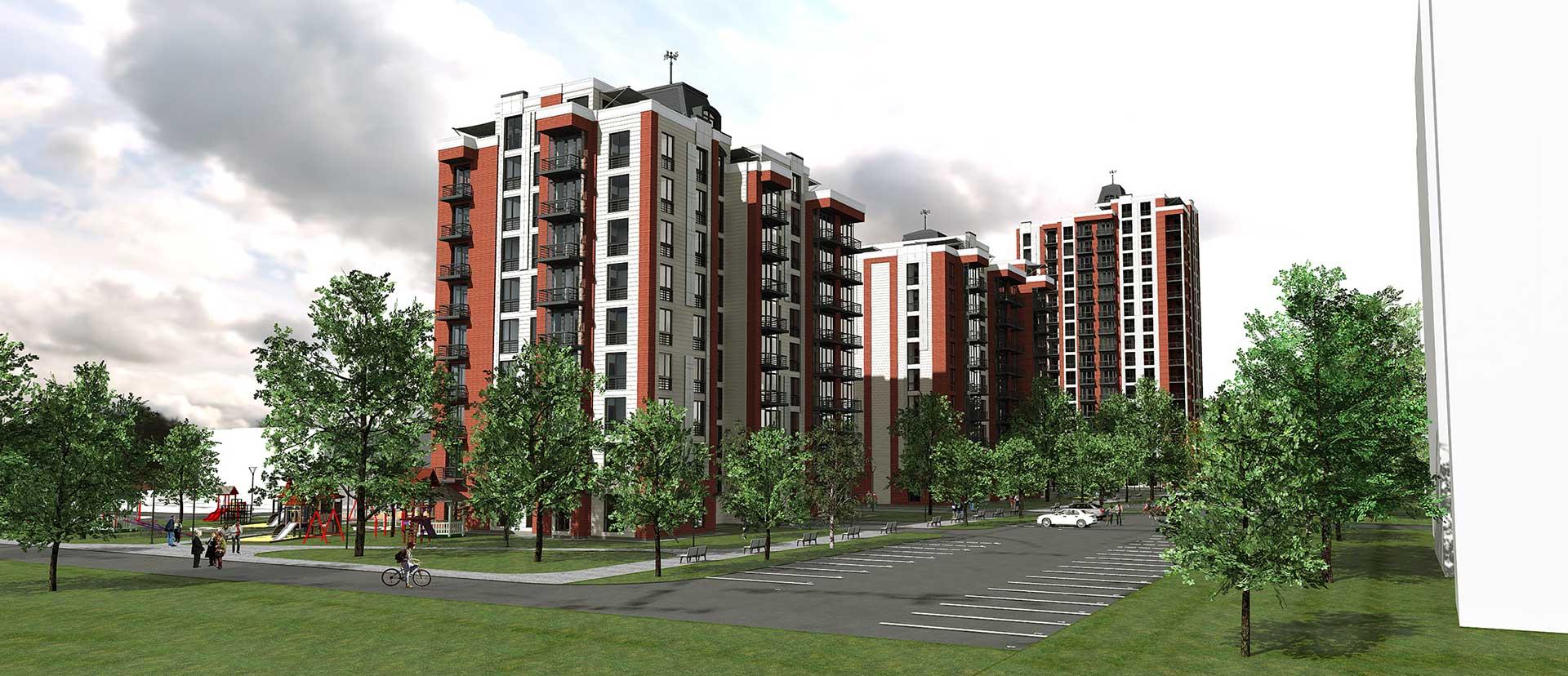 Проектное предложение жилого комплекса по ул. Порика в г. Виннице (фото 9)